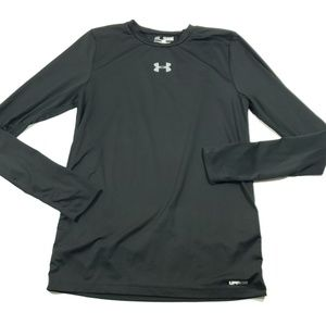 Under Armour solid black long sleeve top large